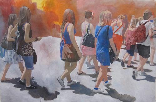 Artist painter Federico Fiorentini