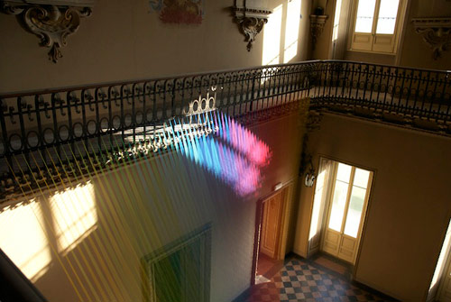 Thread art by Gabriel Dawe