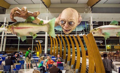 Huge Gollum installation by Weta