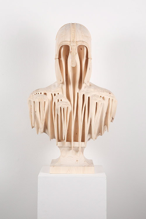 Wood sculptures by artist Morgan Herrin