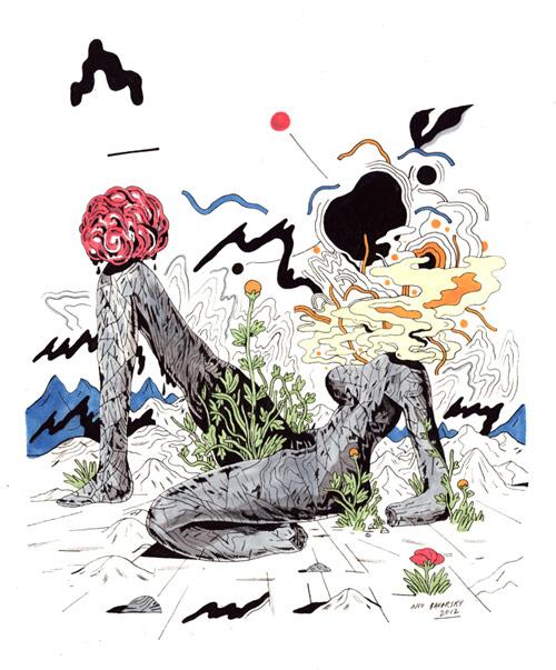 Drawings by artist Niv Bavarsky