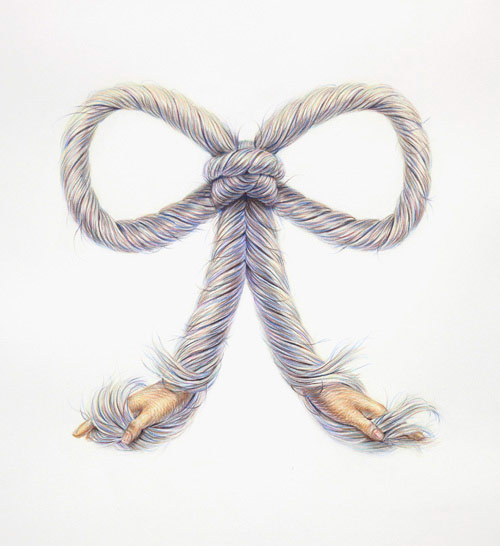 Double Twist Drawings by Toronto artist Winnie Truong