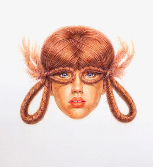 Double Twist Drawings by Toronto artist Winnie Truong