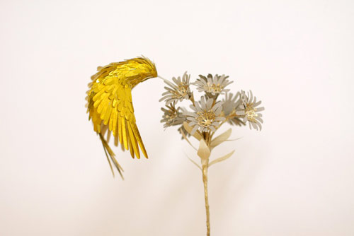 gold hummingbirds by Diana Bel