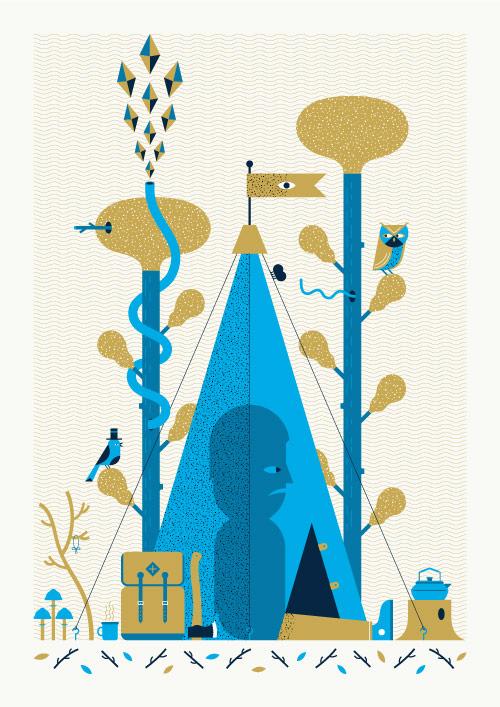 Artist illustrator Andrew Groves