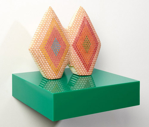 Coloured pencil sculptures by Lionel Bawden
