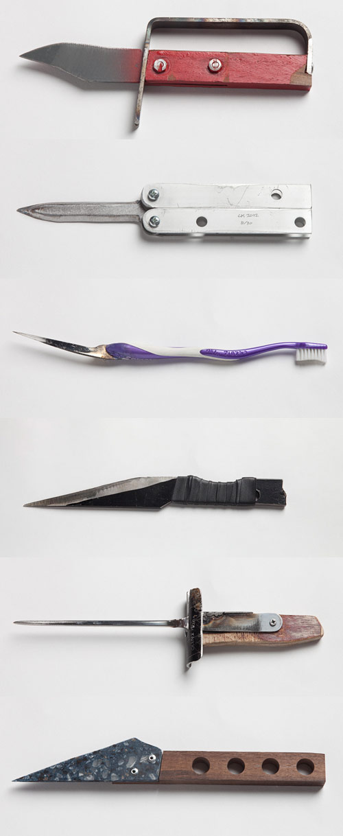 30 Homemade Knives by Chen Chen and Kai Williams