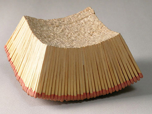 Matchstick sculptures by Ryan and Trevor Oakes