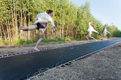 Fast Track trampoline by Salto Architects