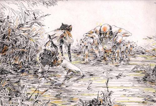 Drawings by Sam Vanallemeersch