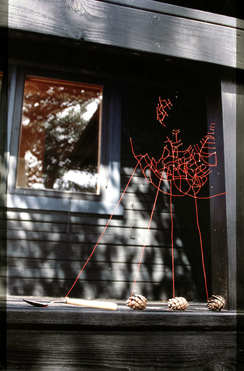 Mended Spiderwebs by Nina Katchadourian