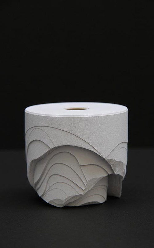 Ana Bidart carved paper sculptures