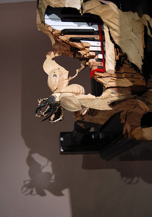 Carvings by artist Maskull Lasserre