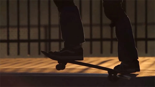 Blind skateboarder Tommy Carroll