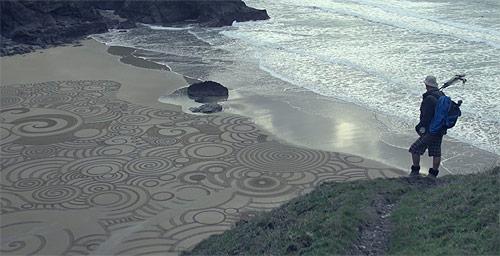 beach drawing by Tony Plant