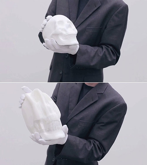 Flexible Paper Sculptures by artist Li Hongbo