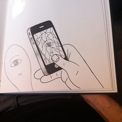 drawings by artist HuskMitNavn