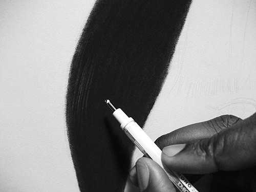 Drawing by artist Kelvin Okafor
