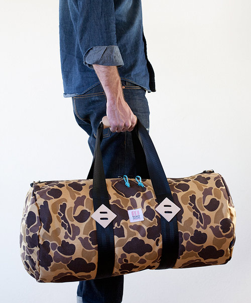 Topo Designs Duck Camo Duffel Bag Giveaway