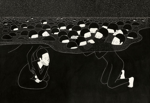 Drawings by artist Daehyun Kim Moonassi