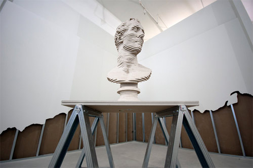Artist Scott Carter deconstructs gallery walls to make sculptures