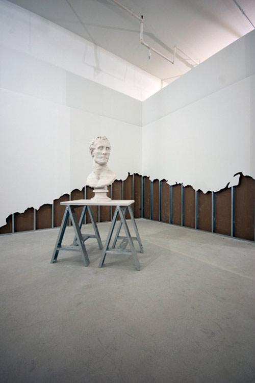 Artist Scott Carter deconstructs gallery walls to make sculptures
