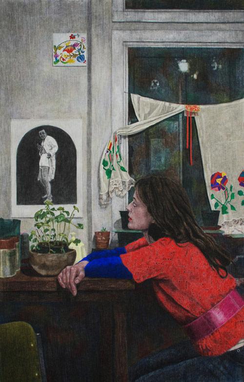 Drawings by artist Iris van Dongen