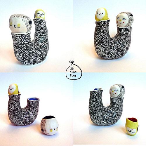 artist lili scratchy ceramics
