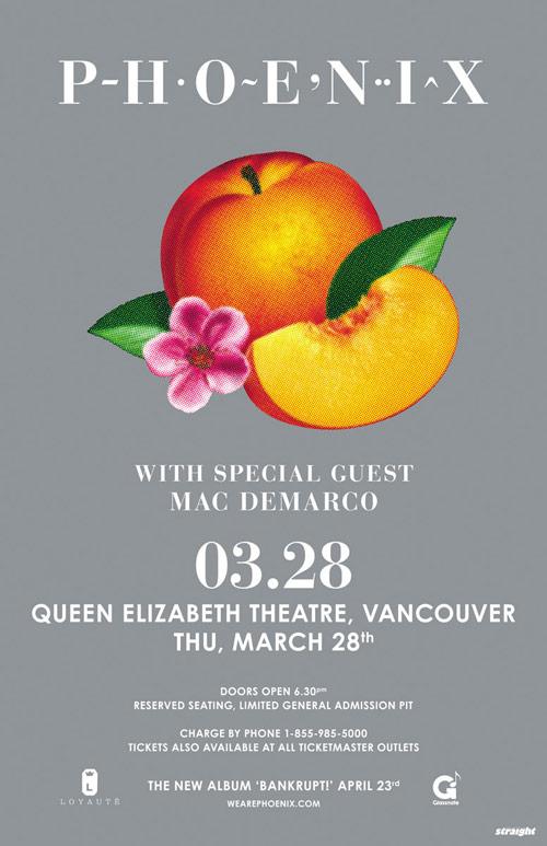 Phoenix Vancouver concert Ticket Giveaway