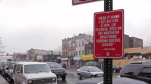 rap quotes new york street signs by artist