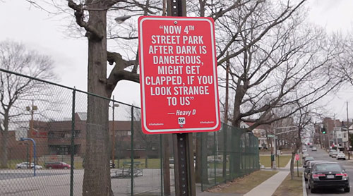 rap quotes new york street signs by artist Jay Shells