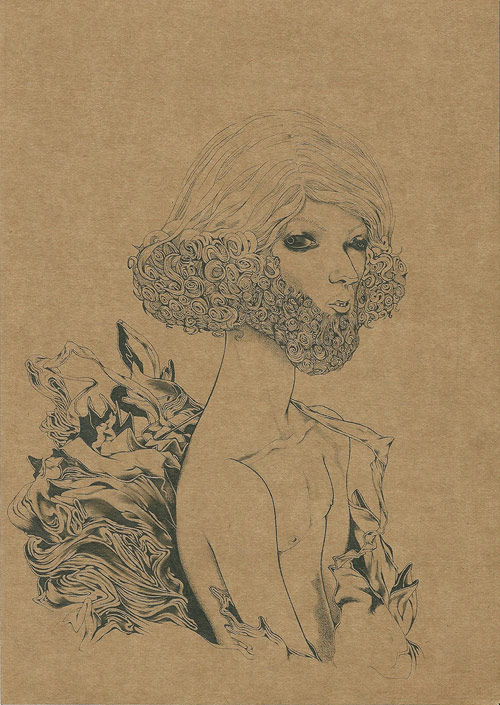 Drawings by artist Pedro Pinto
