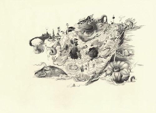 Drawings by artist Armando Veve