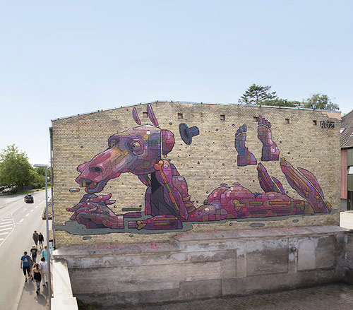 Street paintings by artist ARYZ