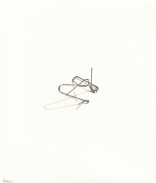 Paperclip paintings by artist painter Dan Golden
