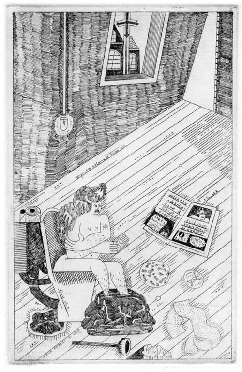 Ulrike Zollner etching calendar 2013