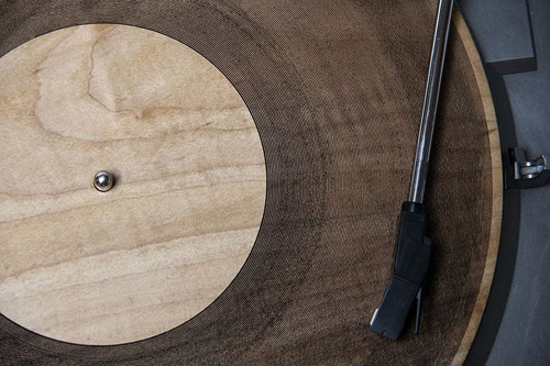 Laser cut record made of Wood!!!