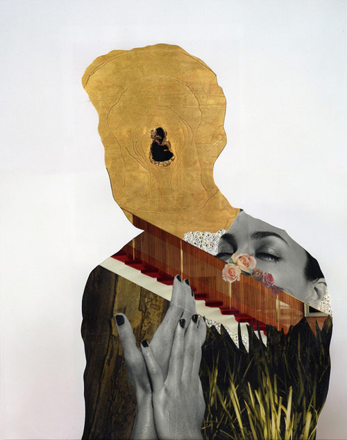 Collages by artist Caroll Taveras
