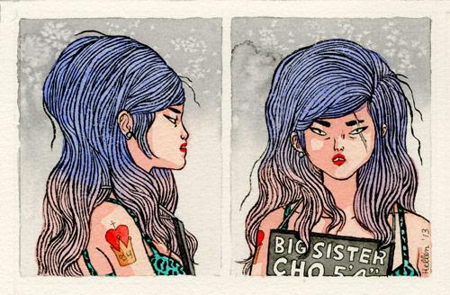 Drawings by artist Hellen Jo