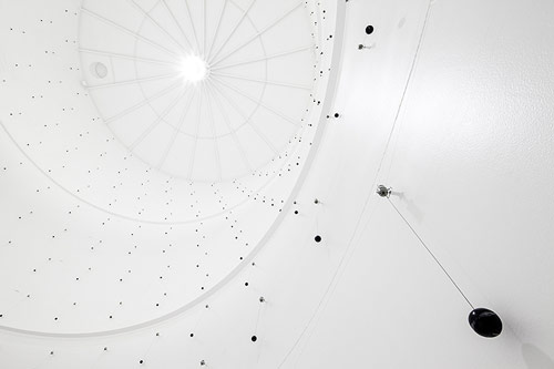 329 cotton balls inside an abandoned tank in Switzerland installation by Zimoun