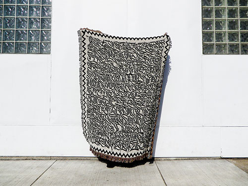 Calligraphy Blanket by Drury Bre