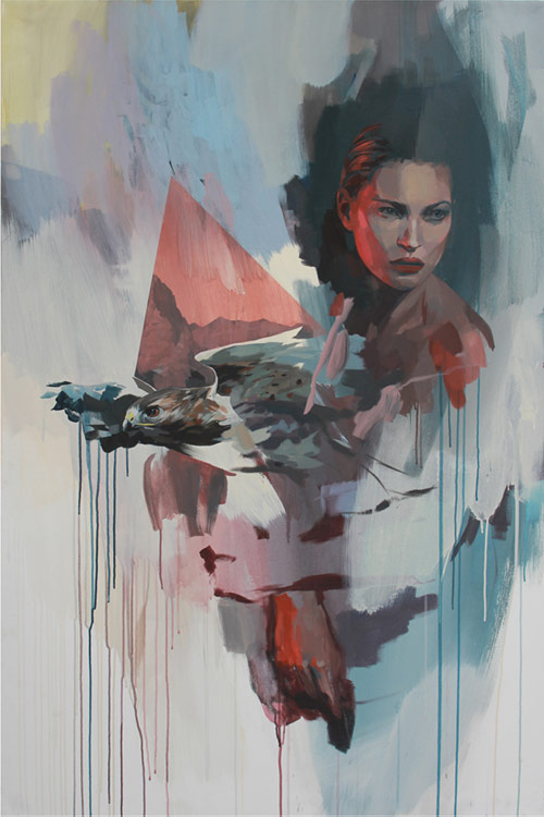 Paintings by artist Rico Blanco