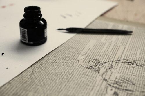 Artist illustrator Evan Hecox
