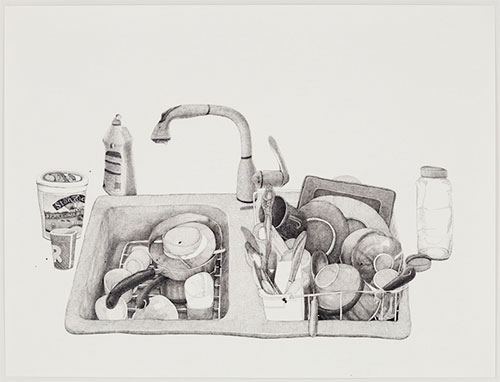 joan linder draws kitchen sink