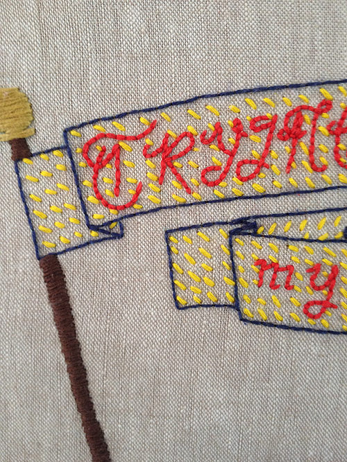 Embroidery by artist Morgan Watt