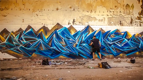Graffiti artist painter SOFLES