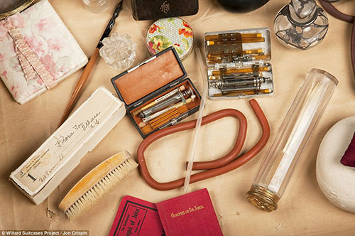 Willard Psychiatric Center Suitcases by Jon Crispin