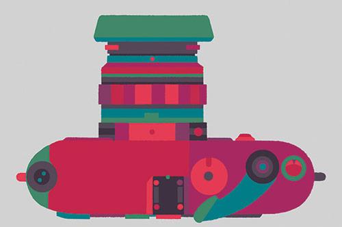 Basilicas - print series by Adrian Johnson celebrates classic cameras