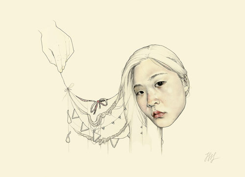 Artist illustrator Haejung Lee