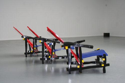 Left-handed Rietveld Chair by artist Julien Berthier